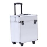 Songmics® leicht trolley Kosmetikkoffer für gepäck hartschale mit 2 rolls silber JHZ12S -