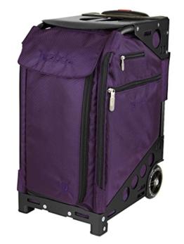züca Pro Travel - der Koffer zum Sitzen (Royal Purple/schwarz) -