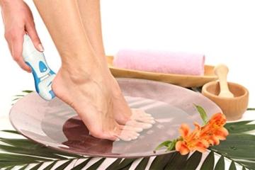 Elektrische Hard Skin Remover mit zusätzlichen Roller, Wiederaufladbare Fuß-Datei, Blue, iMeMine -