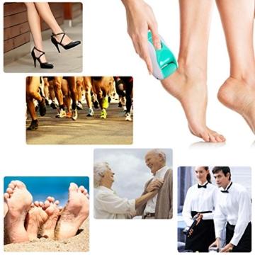 Hornhautentferner Elektrisch Nagelfeile für Fußpflege - Aufladbar ohne Verletzungsgefahr - Pediküre Maniküre Set Ersatz von Bimsstein/ Fräser -