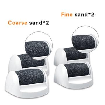O'vinna Elektrische Hornhautentferner,Fußpflege Elektronische Pedicure Werkzeug(ohne Batterie)für die Grob trockene Haut und Schwielen(Blau). -