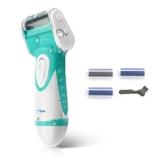 O'vinna Wasserdicht Hornhautentferner elektrischer für die grobe Haut, tote Haut und Schwielen. AA Batterien NICHT enthalten (blaugrün) -