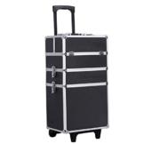 Songmics® Trolley make up Kosmetikkoffer XXL Größe Hartschale für Gepäck 4 in 1 Schwarz JHZ01B -