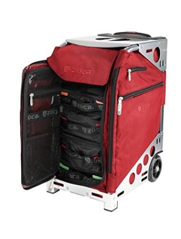 züca Pro Travel - der Koffer zum Sitzen (Ruby Red/Edelstahl) -