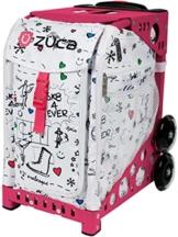 Züca SK8 white mit Rahmen Hot Pink -