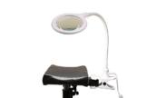 Beinstütze mit LED-Klemmlupenleuchte inkl. Tragetasche -