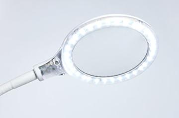 mobile Fußpflege Beinauflage + LED KLemmleuchte -