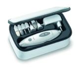 Sanitas SMA 35 elektrisches Maniküre-/ Pediküre-Set, mit 7 Nagelpflege-Aufsätzen, weiß/silber - 1